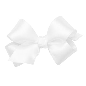 Wee Ones Mini Classic French Satin Hair Bow On Pinch Clip