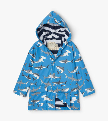 Hatley Deep-Sea Sharks Color Changing Raincoat