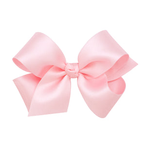 Wee Ones Medium Classic French Satin Bow On Pinch Clip