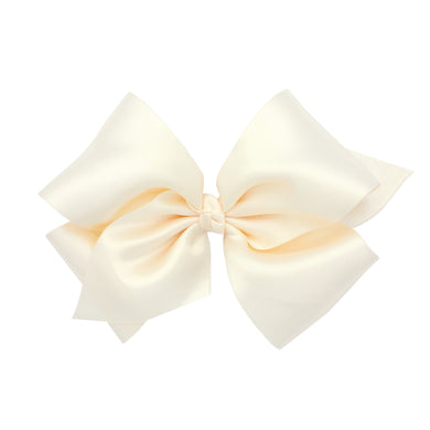 Wee Ones King Classic French Satin Bow On Pinch Clip