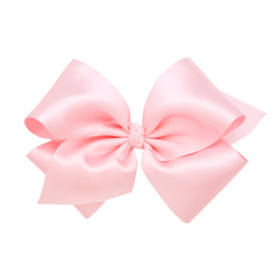 Wee Ones King Classic French Satin Bow On Barrette