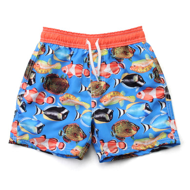 Wes and Willy Boy's Tropical Fish Swim Trunk