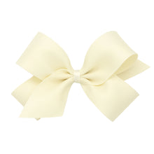 Load image into Gallery viewer, Wee Ones Medium Matte Satin Hair Bow On Pinch Clip