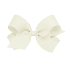 Load image into Gallery viewer, Wee Ones Large Classic Grosgrain Hair Bow (Plain Wrap) On Barrette