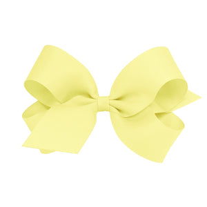 Wee Ones Large Classic Grosgrain Hair Bow (Plain Wrap) On Barrette