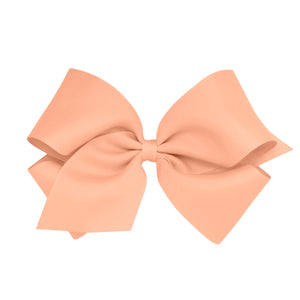 Wee Ones King Classic Grosgrain Hair Bow (Plain Wrap) On Pinch Clip