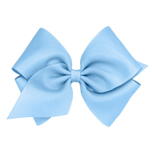 Wee Ones Mini King Classic Grosgrain Hair Bow On Pinch Clip