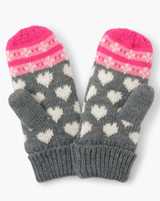 Load image into Gallery viewer, Hatley Winter Hearts Fleece Lined Mittens