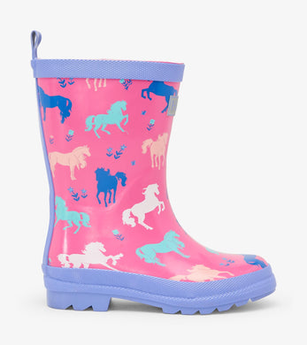 Hatley Painted Pasture Shiny Rain Boots