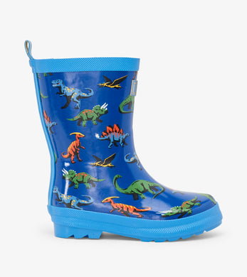Hatley Friendly Dinos Shiny Rain Boots