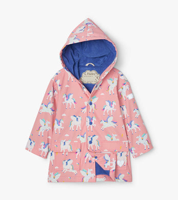 Hatley Magical Pegasus Color Changing Raincoat