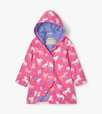 Hatley Painted Pasture Color Changing Splash Jacket