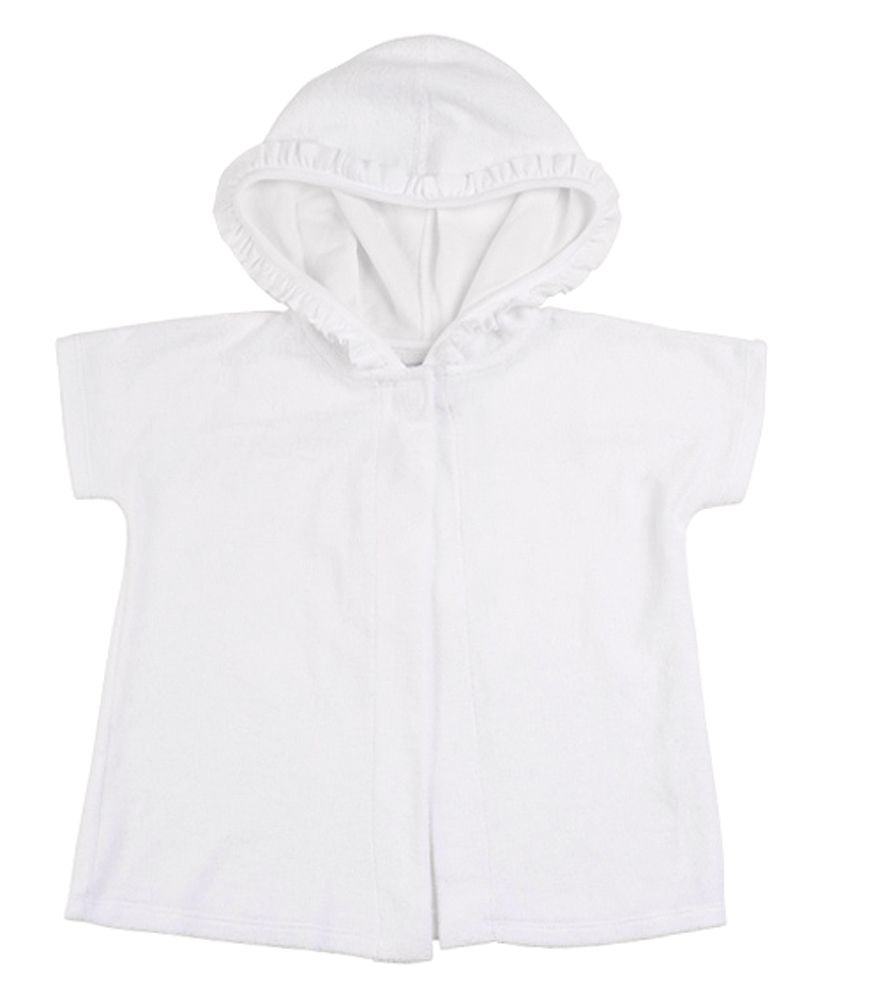 Florence Eiseman Girls Terry Cover- Up With Ruffled Hood
