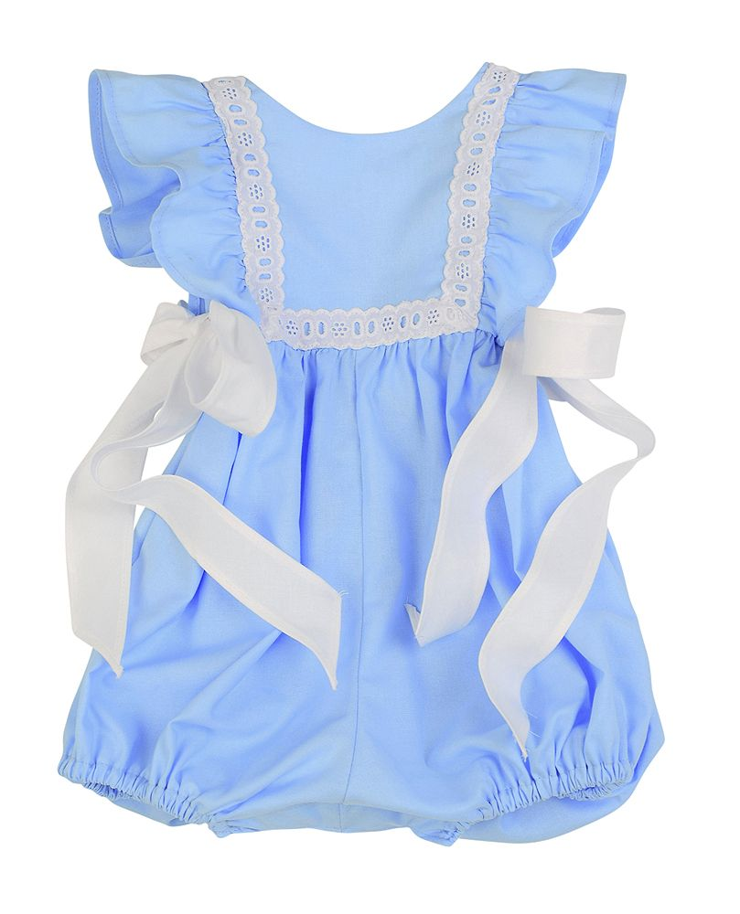 Funtasia Too French Blue Eyelet Pinafore Bubble