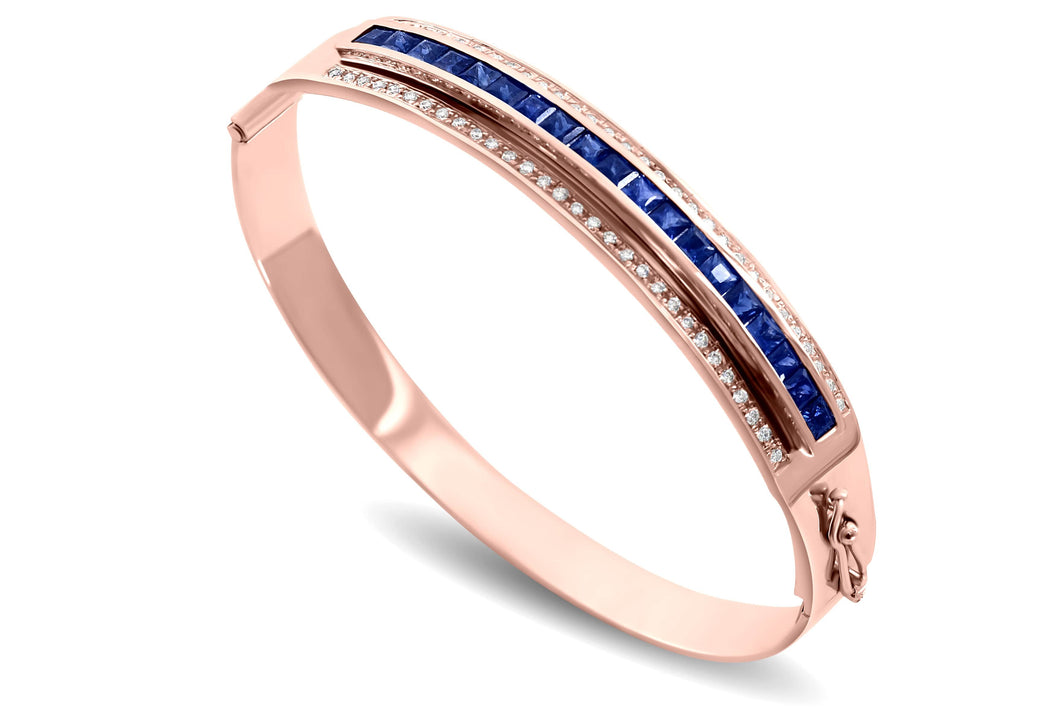 Journey Bangle - The Three Graces - Rose Gold with Sapphire, Ruby &  Tsavorite Inserts