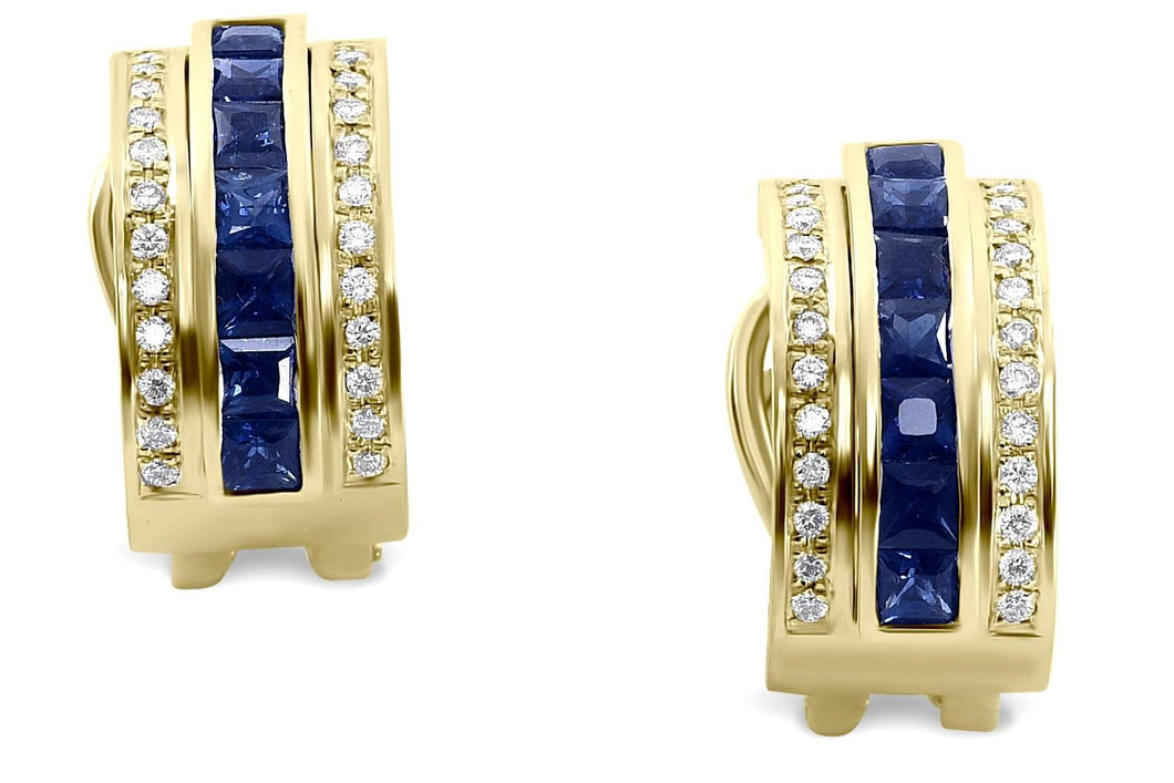 Journey Earrings - Your Grace  - Yellow Gold - Select Sapphire, Ruby or Tsavorite Insert