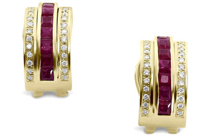 jewelry diamond earrings yellow gold