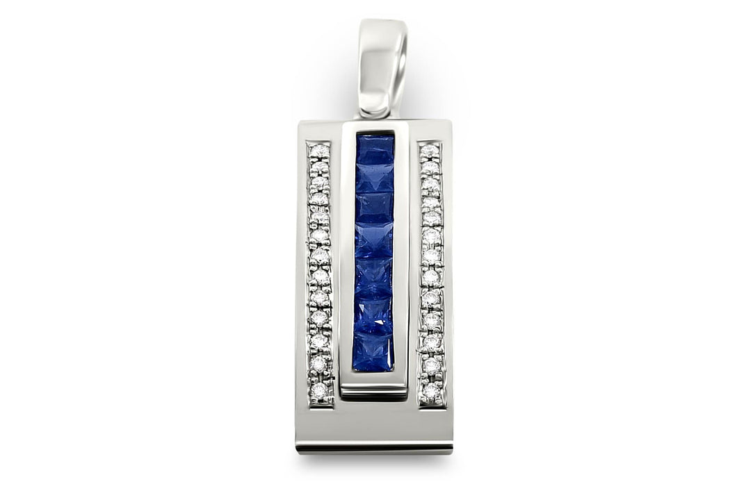 Journey Pendant -The Three Graces - Platinum with Sapphire, Ruby & Tsavorite Inserts