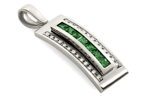 Journey Pendant - Your Grace - Platinum - Select Sapphire, Ruby or Tsavorite Insert