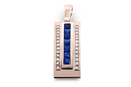 Journey Pendant - The Three Graces - Rose Gold with Sapphire, Ruby & Tsavorite Inserts