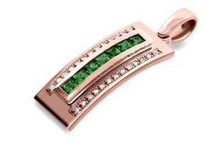Journey Pendant - Your Grace - Rose Gold - Select Sapphire, Ruby or Tsavorite Insert