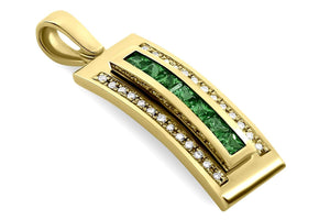 Journey Pendant - Your Grace - Yellow Gold - Select Sapphire, Ruby or Tsavorite Insert