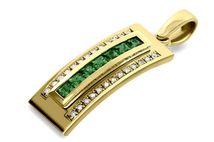 Journey Pendant - The Three Graces - Yellow Gold with Sapphire, Ruby &  Tsavorite Inserts