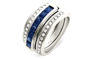 Journey Ring - Your Grace - Platinum - Select Sapphire, Ruby or Tsavorite Insert