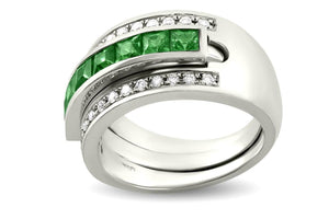 Journey Ring - Your Grace - White Gold - Select Sapphire, Ruby or Tsavorite Insert