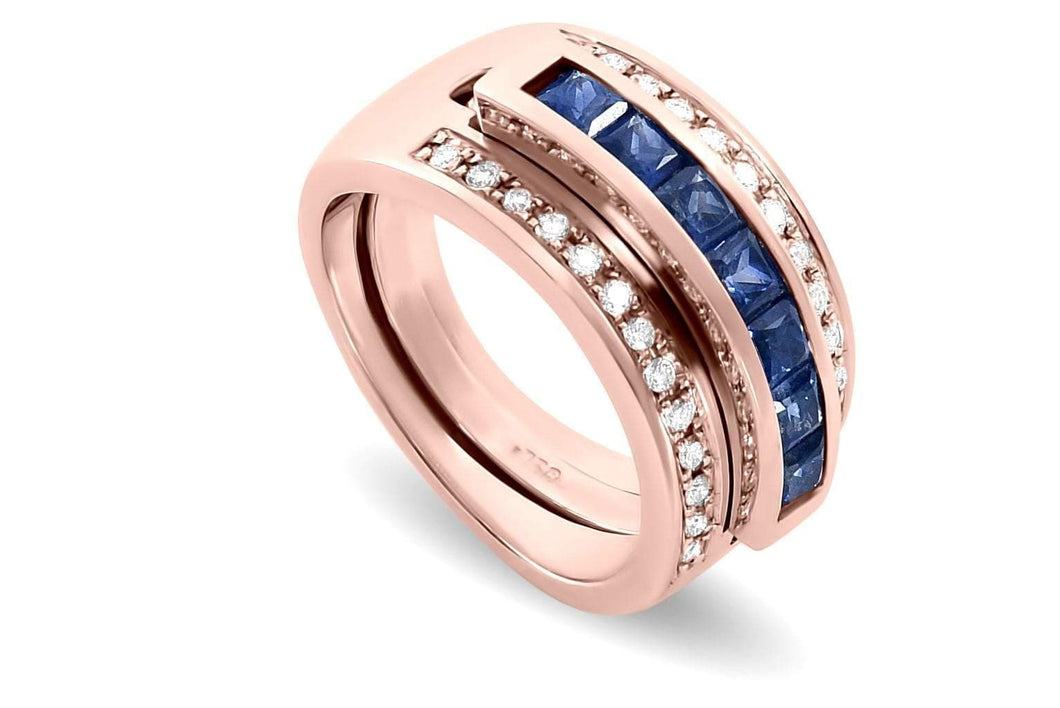 Journey Ring - Your Grace - Rose Gold - Select Sapphire, Ruby or Tsavorite Insert