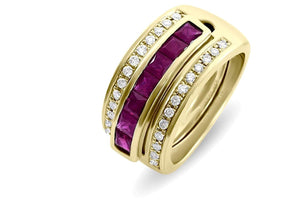 Journey Ring - Your Grace - Yellow Gold - Select Sapphire, Ruby or Tsavorite Insert