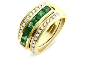 Journey Ring - The Three Graces - Yellow Gold with Sapphire, Ruby &  Tsavorite Inserts