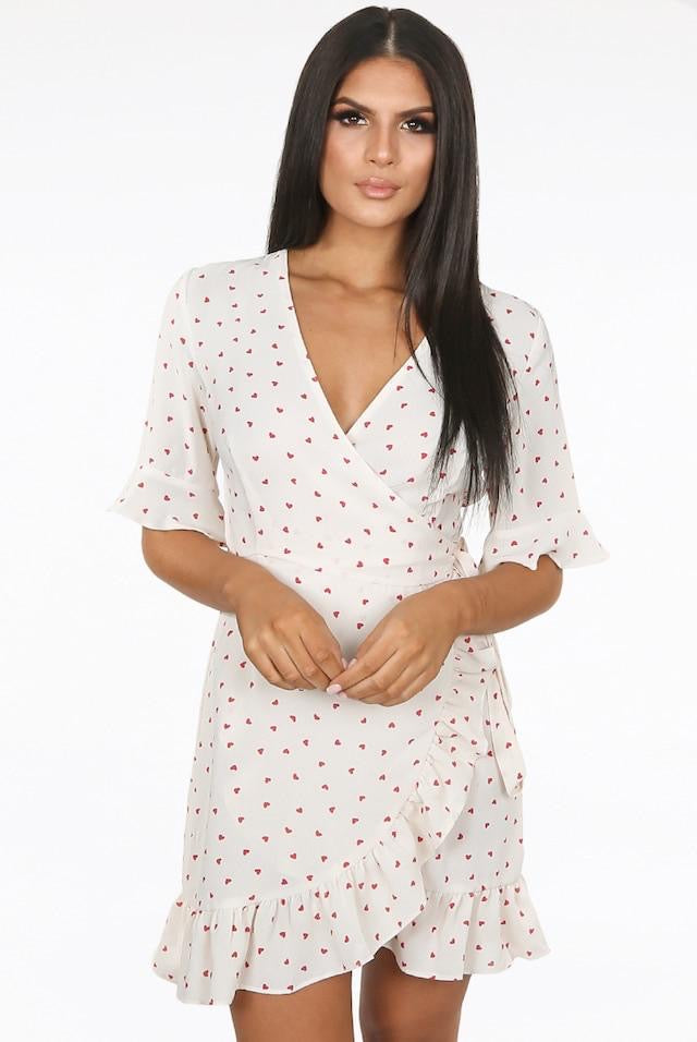 Vera and Lucy heart wrap dress