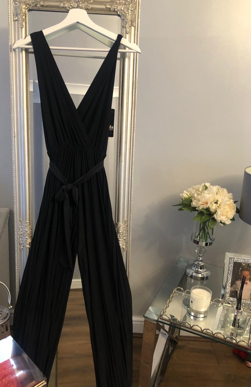 Pleated Jumpsuit - Black or Orange
