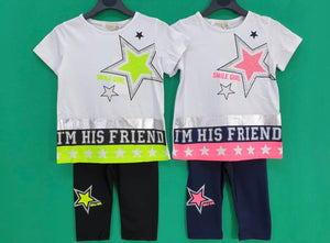 Smile girl shorts and t-shirt set