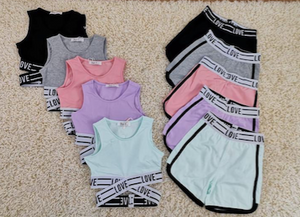 Girls Love exercise 2 piece set