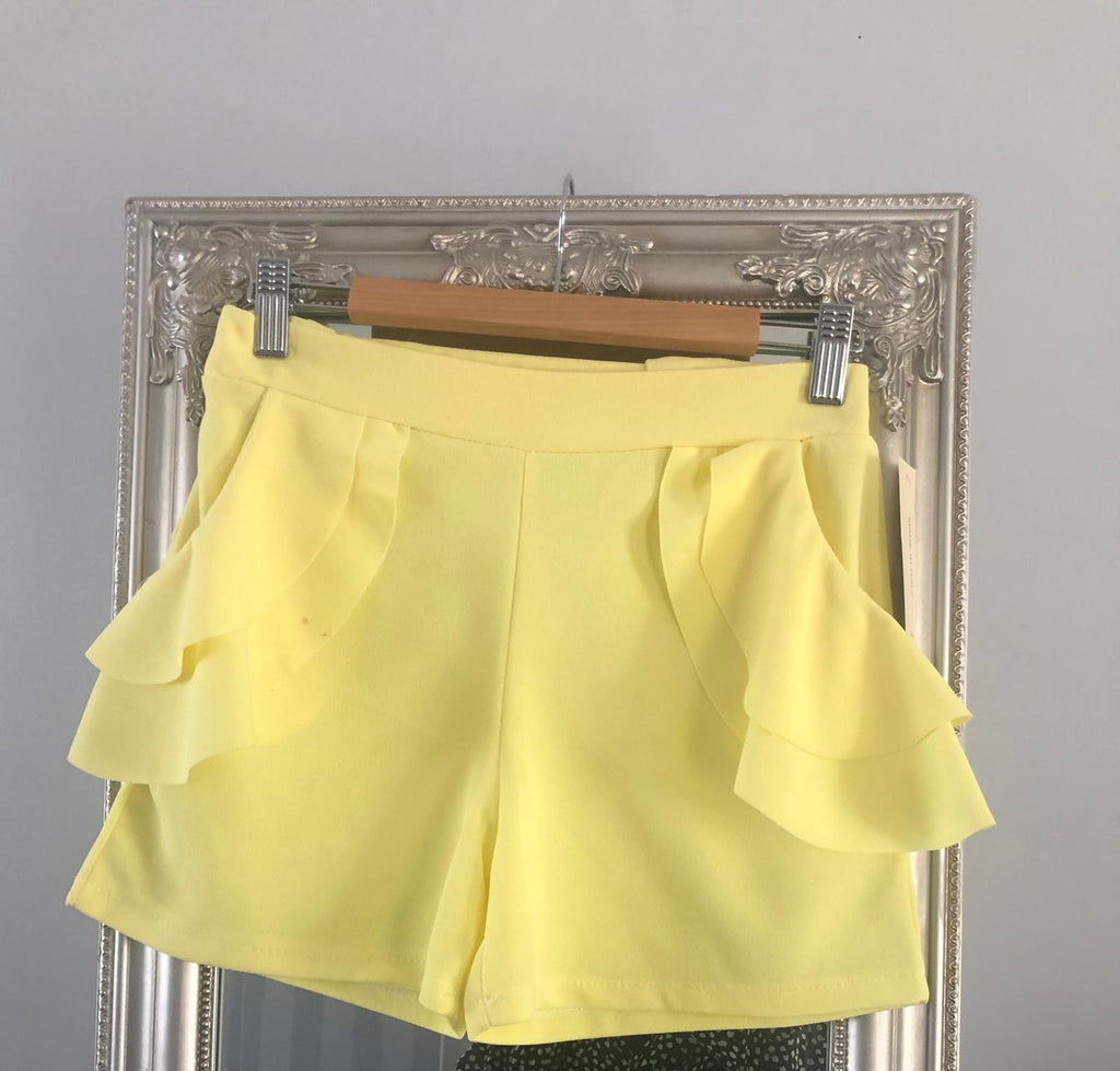 Kids frill pocket shorts
