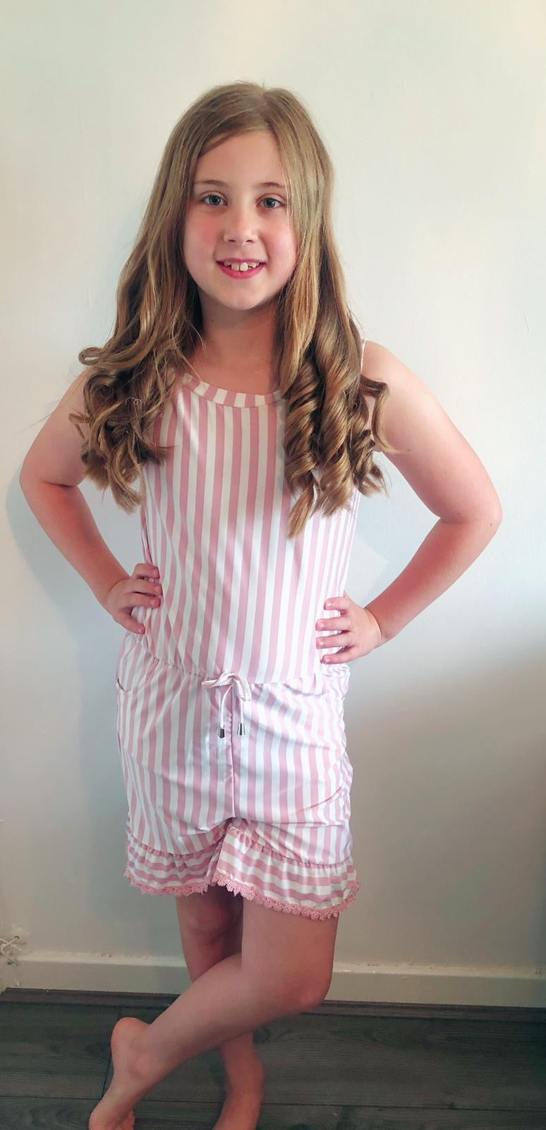 Girls All in one stripe playsuit