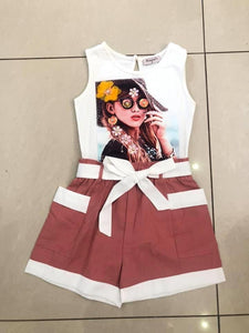 3D girls playsuit