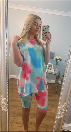 Tie Dye two piece short set - Available in amazing colours!