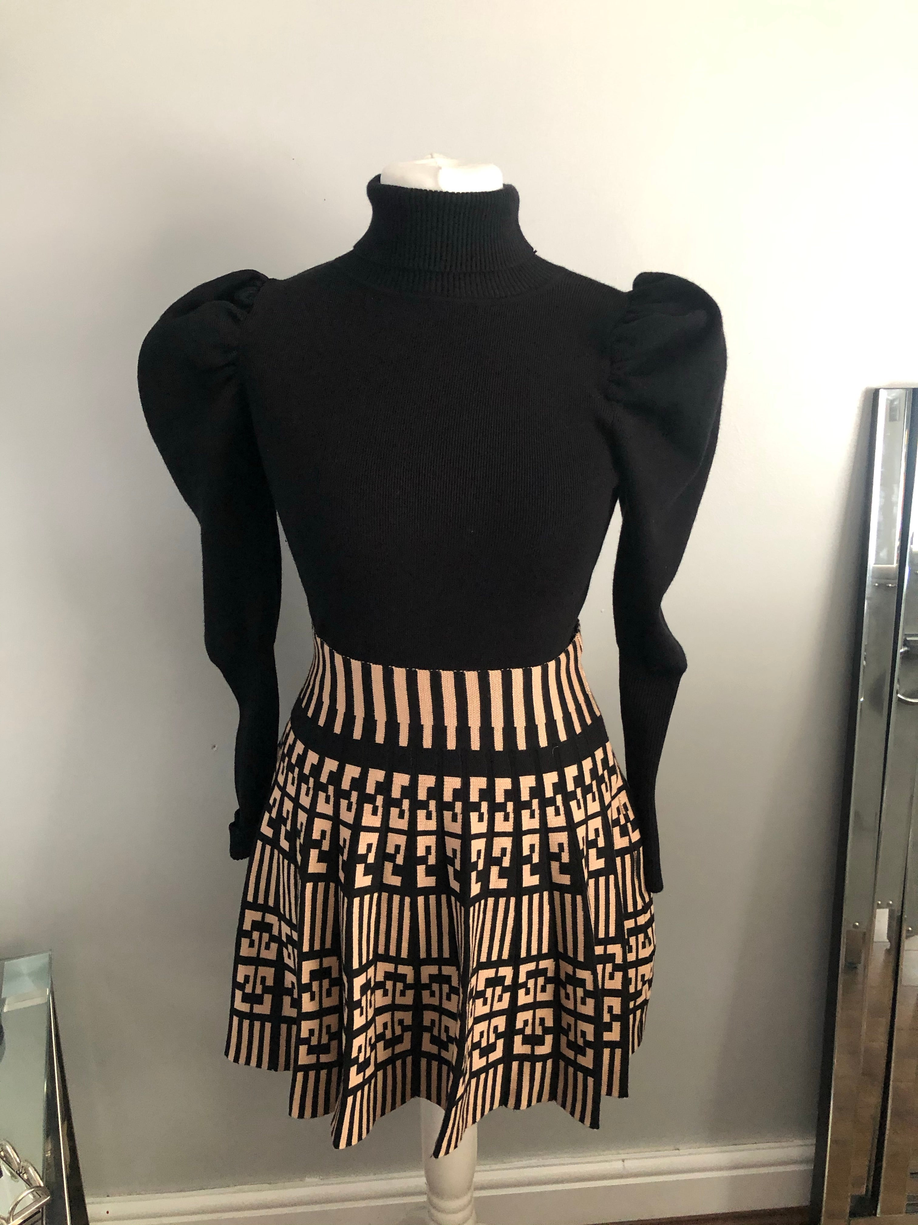 Fendi inspired Nude  skirt