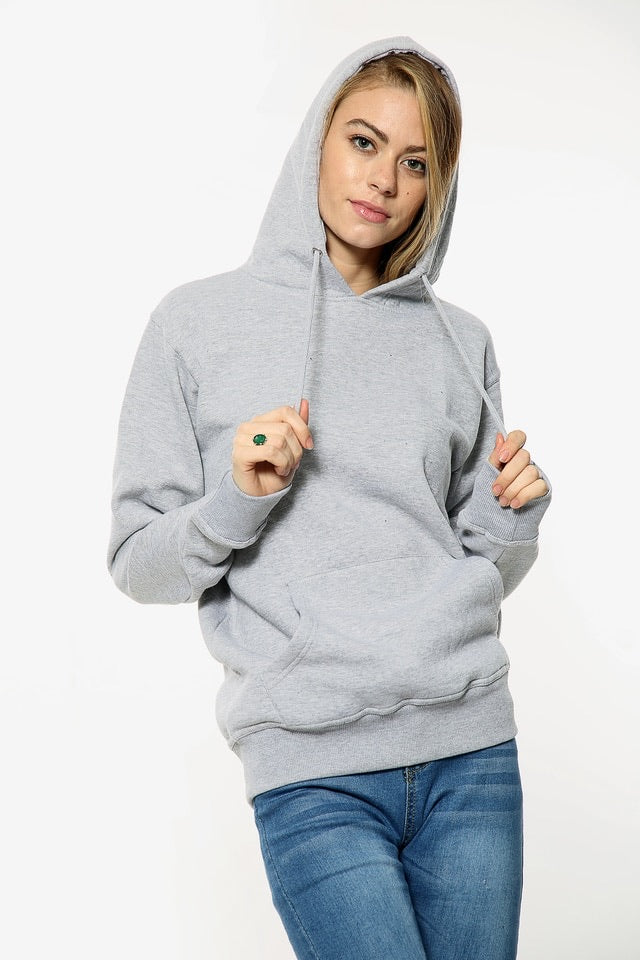 Not so 'BASIC'  Grey Hoodie