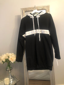 Longline Black hoodie/Dress