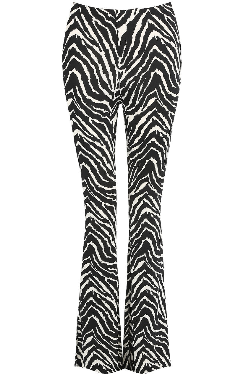 Zebra bell bottom pants