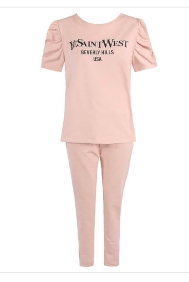 YeSaint West Beverley Hills Loungewear, Available in Pink, Blue, Stone & Black
