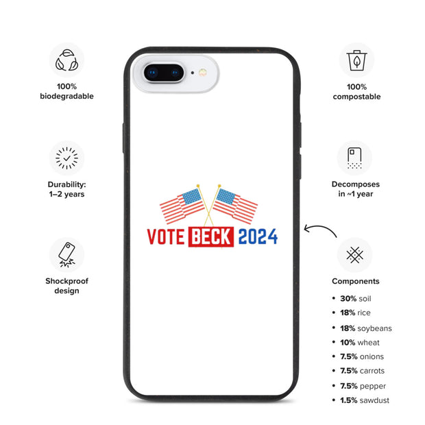 Vote Beck 2024 Biodegradable phone case