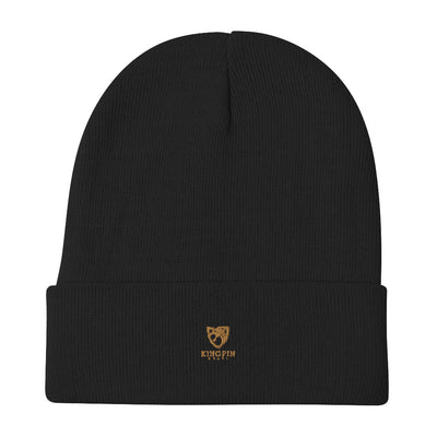 Lion KingPin Glass Embroidered Beanie