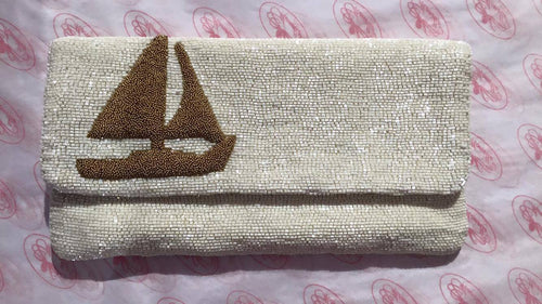 Moyna | Sailboat Foldover Clutch