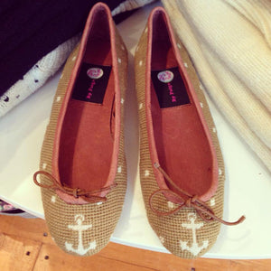 By Paige | Needlepoint Ballet Flats