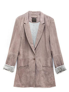AS by DF | It Girl Suede Blazer (dove gray)
